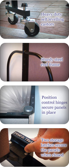 Examples of Screenflex screens in situ